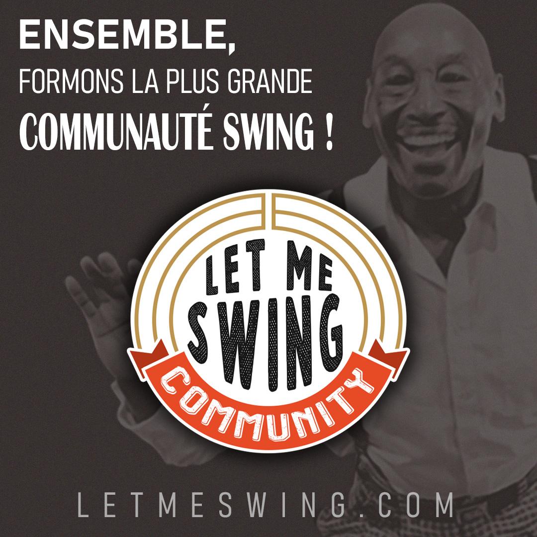 partage Let Me Swing avec logo